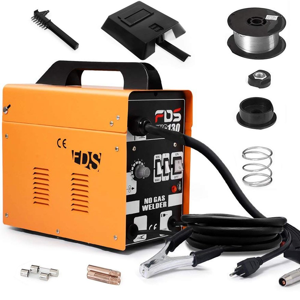 Goplus-MIG-130-Welder-Flux-Core-Wire-with-Automatic-Feed-Review