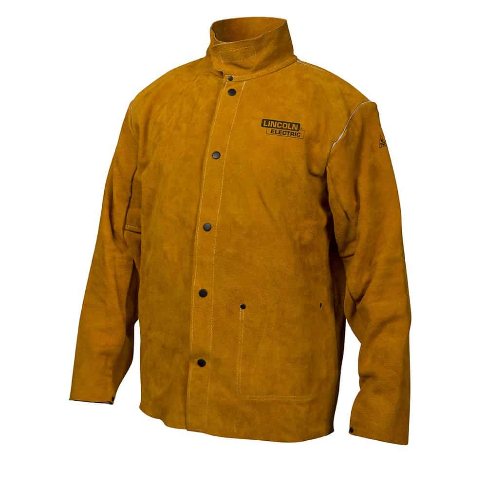 Lincoln Electric Flame-Resistant Heavy Duty Leather Welding Jacket
