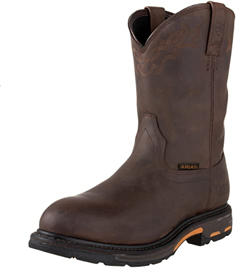 ARIAT Men's Workhog Pull-On Waterproof Work Boot
